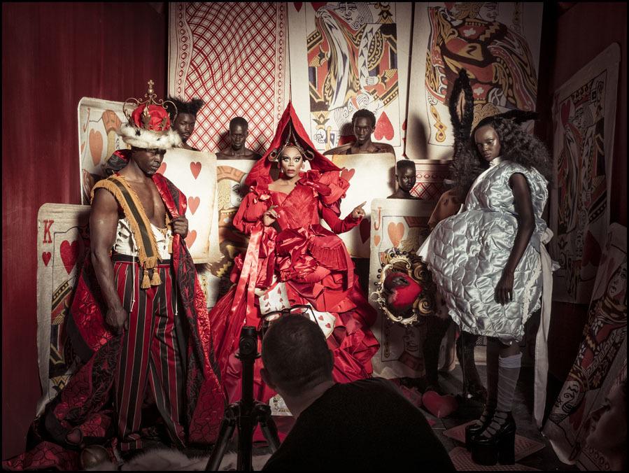 RuPaul y Djimon Hounsou, fotografiados por Tim Walker - Making of...