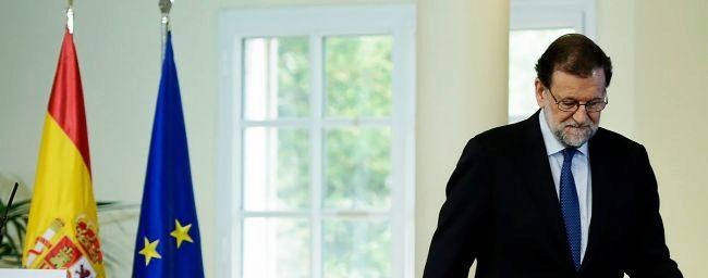 El presidente del Gobierno, Mariano Rajoy, en un acto reciente en el...