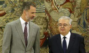 El Rey Felipe VI ha recibido hoy en el Palacio de la Zarzuela al...