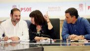 El secretario de Organización del PSOE, José Luis Ábalos, la...
