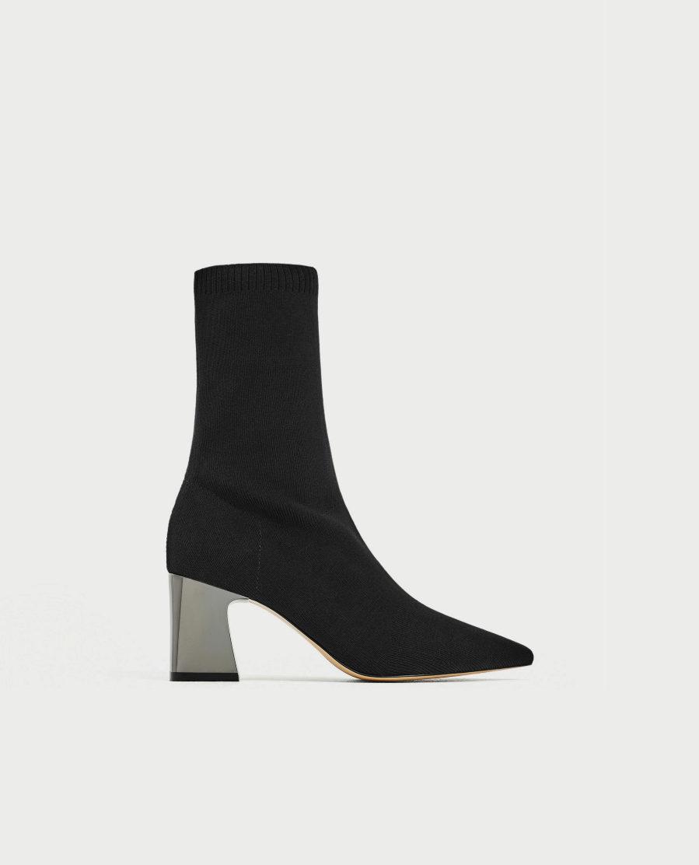 guapo online la venta de zapatos Botín de tejido elástico, de Zara | Yodona/moda | EL MUNDO