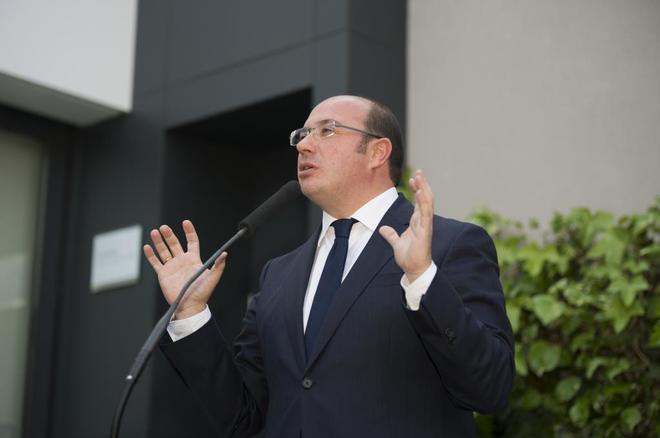 Pedro Antonio Sánchez a su salida del TSJ de Murcia el pasado mes de...