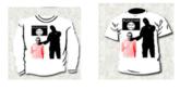 Camiseta que el ahora condenado vendía en su web, con la imagen de la...
