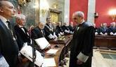 El nuevo fiscal jefe Anticorrupción, Alejandro Luzón, en el acto de...