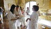 Técnicos de la administración aragonesa en el Monasterio de Sijena...