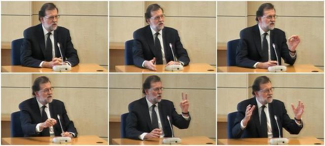 Imágenes capturadas de la señal de vídeo institucional que muestran...