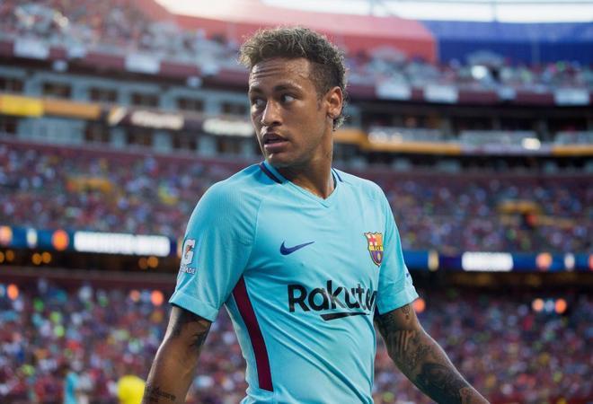 Neymar Jr, autor del único gol. Ha marcado los tres goles del Barça en pretemporada.
