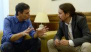 l secretario general del PSOE, Pedro Sánchez y el secretario general...