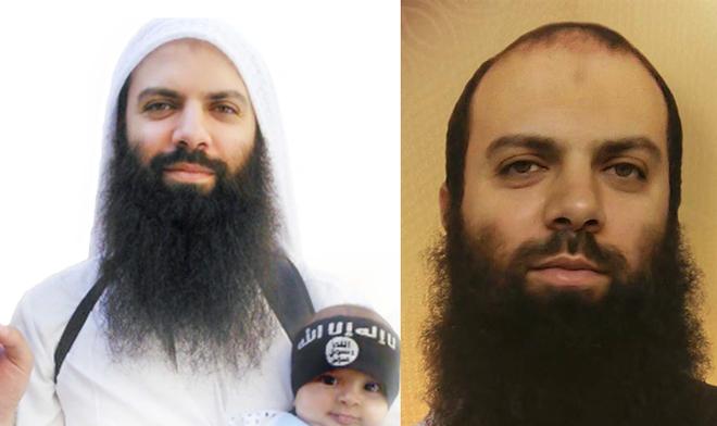 Abu Suleiman al Shami en dos fotos de archivo