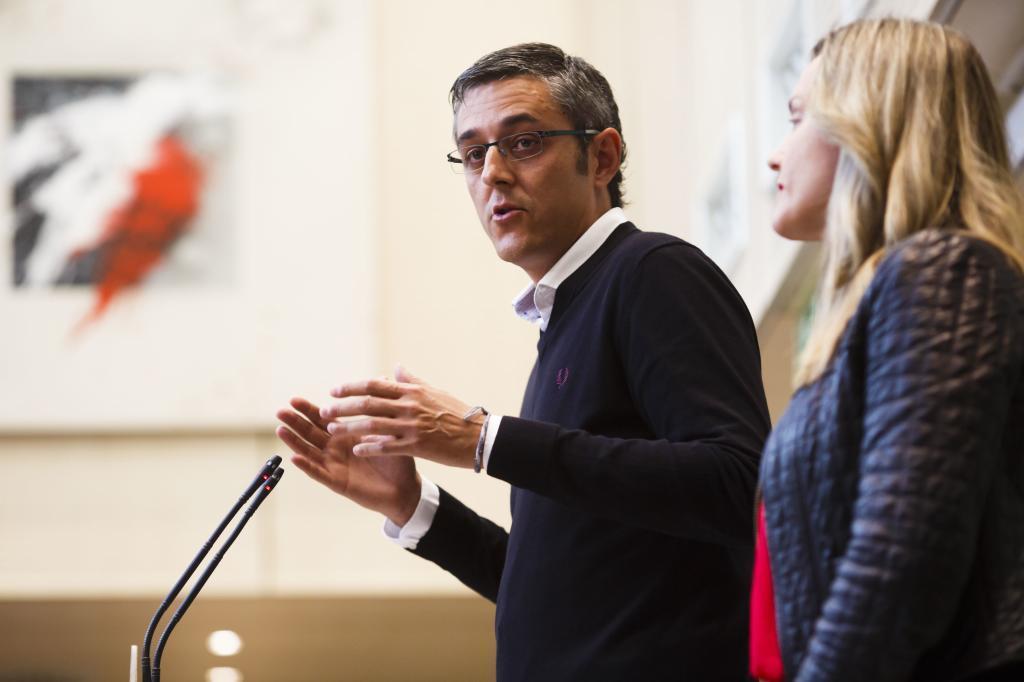 Eduardo Madina, en un acto de la campaña a favor de Susana Díaz para las primarias del PSOE.