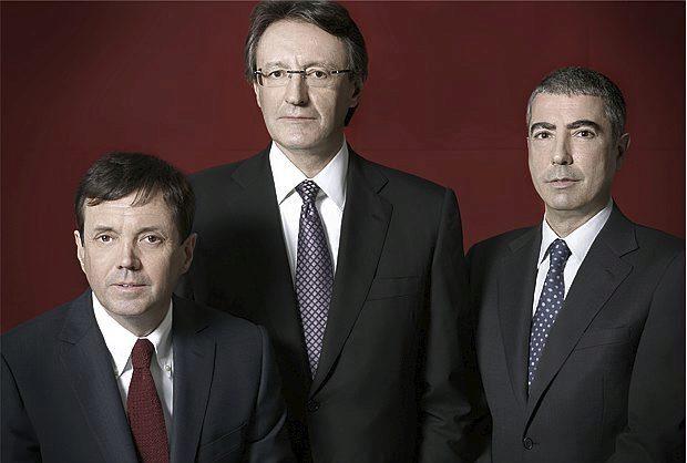 De izquierda a derecha: Ramón Cierco, Higini Cierco y Joan Pau Miquel.