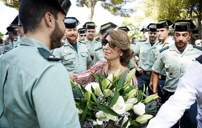 Acto de homenaje celebrado ayer por el aniversario del atentado de...