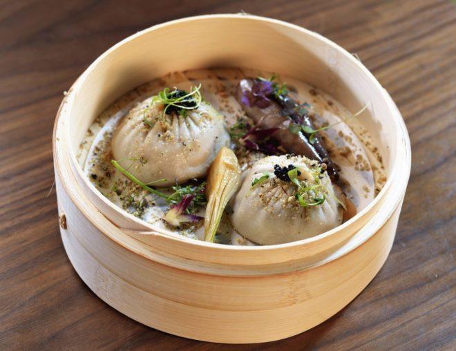 <em>Xiao long bao</em> de caldo de panceta de cerdo.