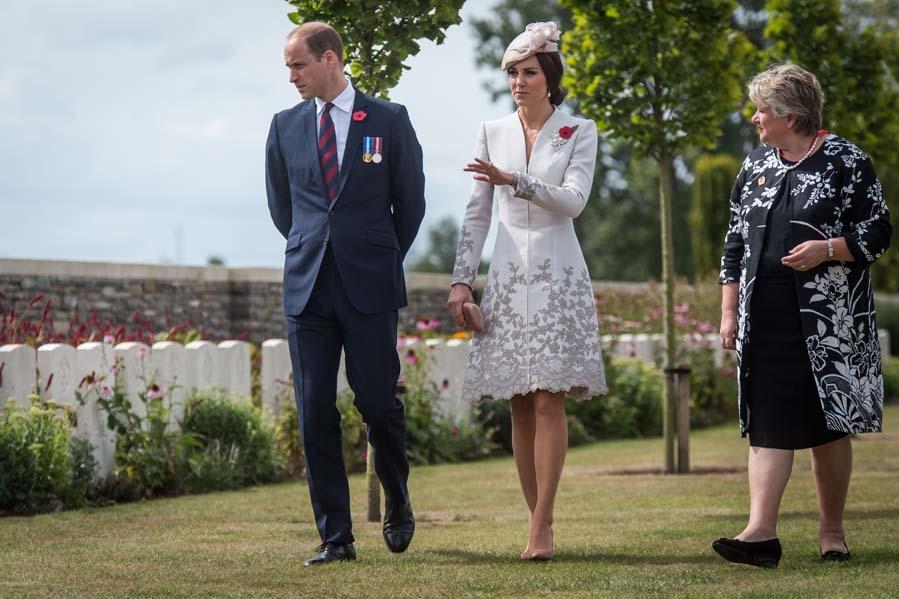 Los duques de Cambridge han participado este lunes en el homenaje en...