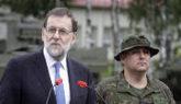 Mariano Rajoy, el pasado 18 de julio, durante su visita a la base de...