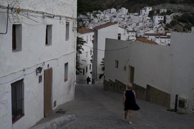 La localidad malagueña de Casares, pueblo natal de Blas Infante,...