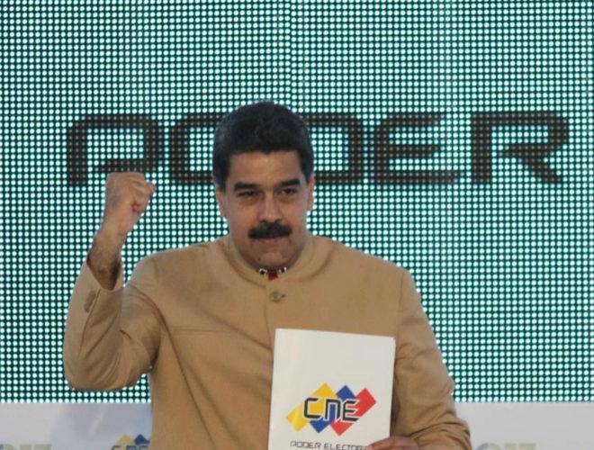 Nicolás Maduro durante en un acto en Caracas.