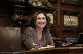 La alcaldesa de Barcelona, Ada Colau, en un Pleno, el pasado junio.