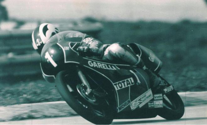 Ángel Nieto durante el Gran Premio de Alemania 84, en una imagen de archivo.