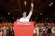 Pedro Sánchez, tras ser proclamado líder del PSOE en el 39 Congreso Federal, el pasado junio.
