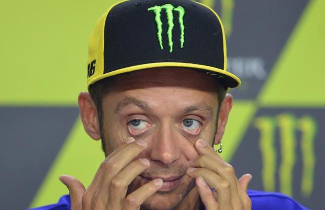 Valentino Rossi en rueda de prensa previa al Gran Premio checo de Moto GP.