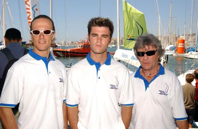 Sete Gibernau, Fonsi Nieto y Ángel Nieto, en Palma de Mallorca en 2003.