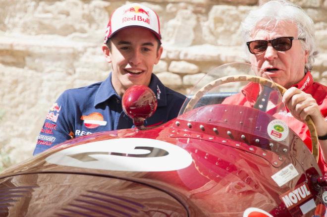 Marc Márquez y Ángel Nieto en el circuito de Jerez, en abril de 2015