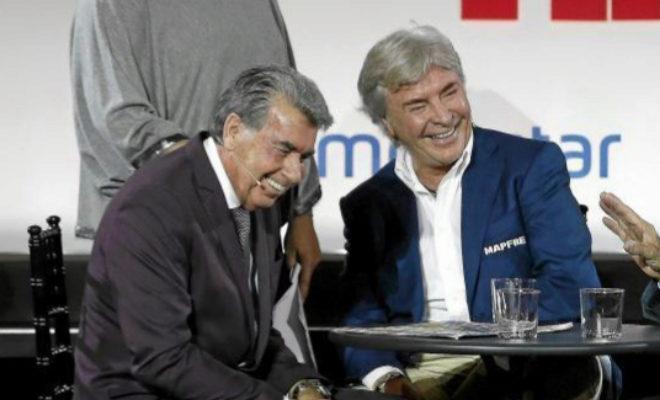 Manolo Santana junto a Ángel Nieto en Diario Marca.