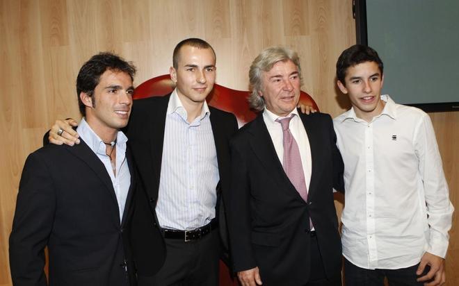 Elías, Lorenzo, Ángel Nieto y Márquez, en una recepción del CSD en 2010