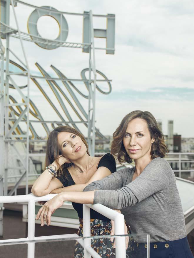 La periodista y escritora Sibila Freijo junto a la actriz Ana Otero