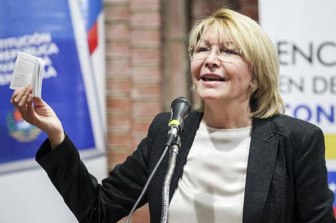 Luisa Ortega habla el 6 de agosto en Caracas (Venezuela).