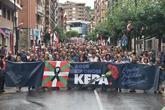 Manifestación celebrada en Galdácano (Vizcaya) en homenaje al etarra...