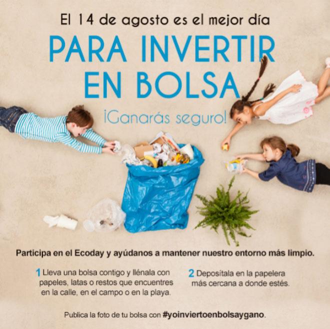 Cartel de la campaña de recogida de basura que organiza Samantha...