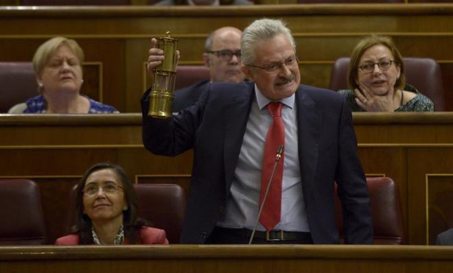 Antonio Trevín, durante su intervención en un pleno del Congreso de los Diputados.