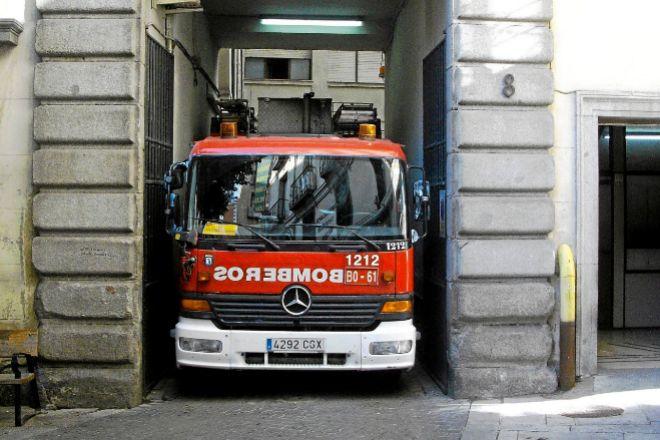 Camión de la flota de Bomberos de Madrid.