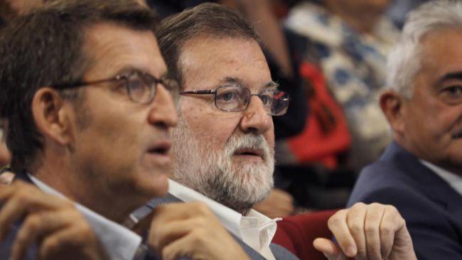 Mariano Rajoy, esta mañana con Alberto Núñez Feijóo en Chantada...