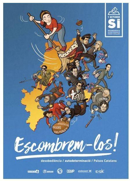 Cartel de la campaña para el referéndum del 1-O