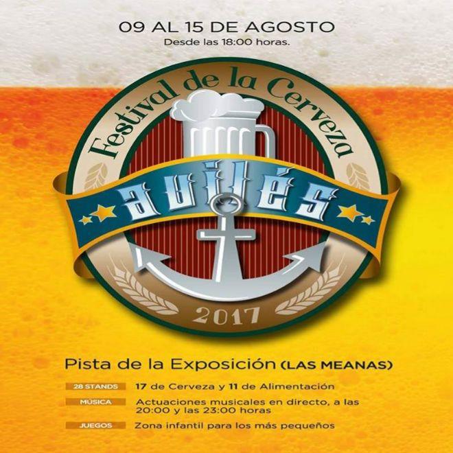 Cartel del 'Festival de la cerveza' en Avilés.