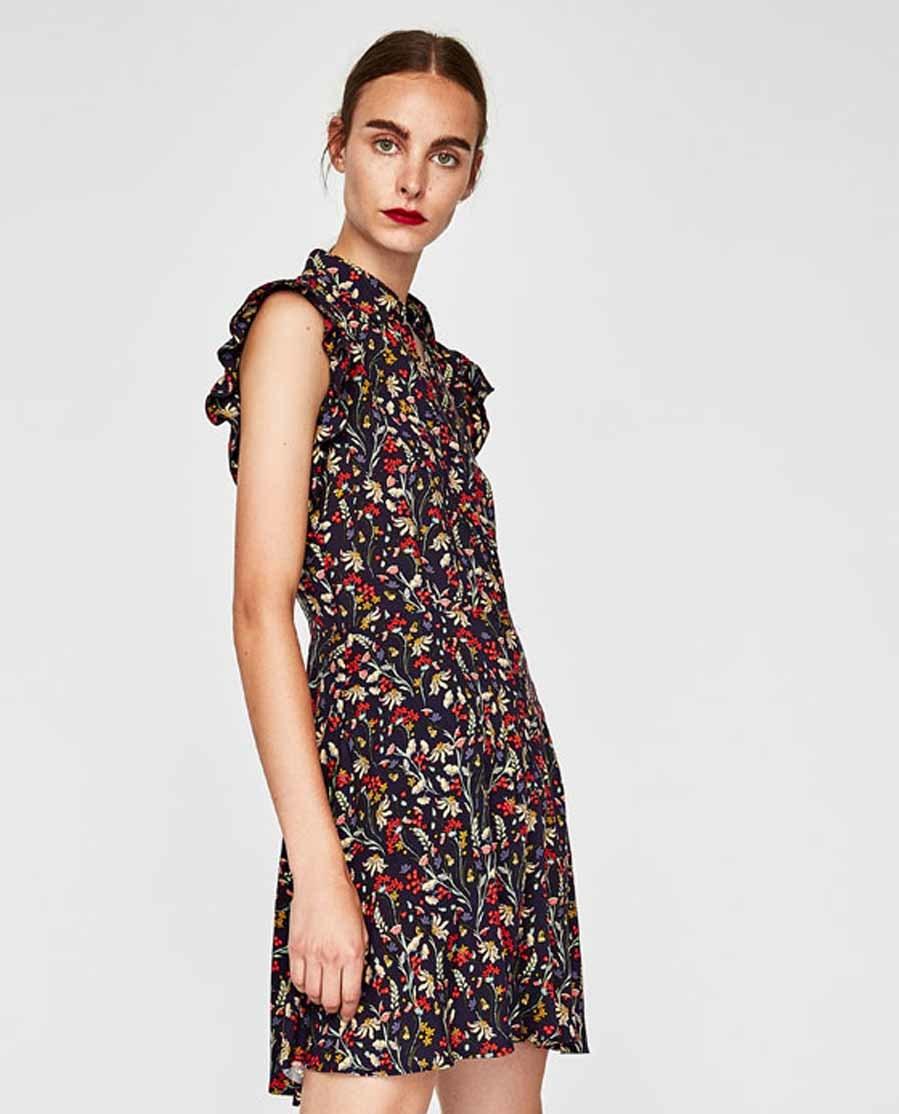 Vestidos cortos de flores zara