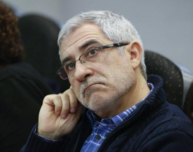 Gaspar Llamazares, en la reunión del Consejo Político de IU.