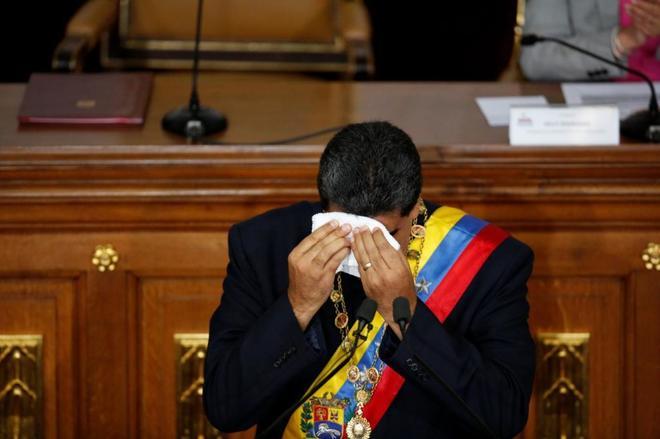 Nicolás Maduro habla en la Asamblea Constituyente, este viernes en Caracas.