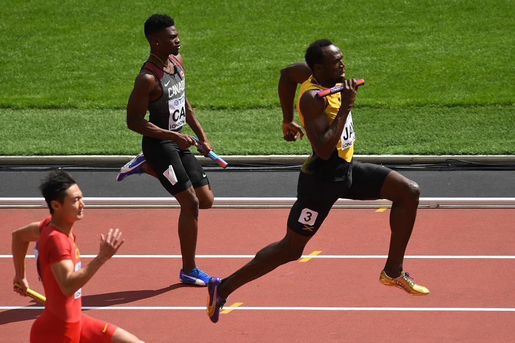 Usain Bolt selló la victoria de Jamaica en la serie de 4x100 que le...