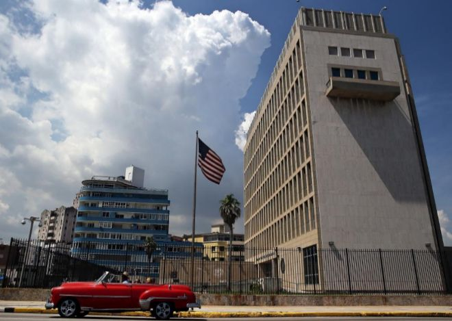 La embajada de EEUU en La Habana.