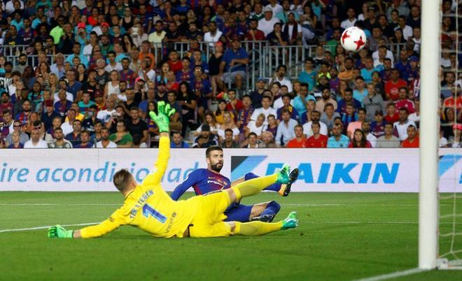 El gol más triste de Piqué