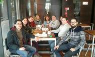 Grupo de españoles residentes en Chile que forman la Comisión por la Memoria del Exilio Republicano, en una imagen reciente, en Santiago de Chile