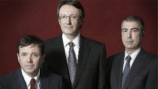 De izqda. a dcha., Ramón Cierco, Higini Cierco y Joan Pau Miquel...
