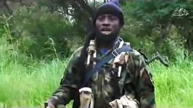 Abubakar Shekau, líder de Boko Haram, en un vídeo.