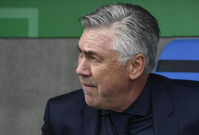 Ancelotti durante el primer partido de copa del Bayern.