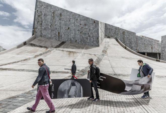 La Ciudad de la Cultura de Galicia, en Santiago de Compostela,