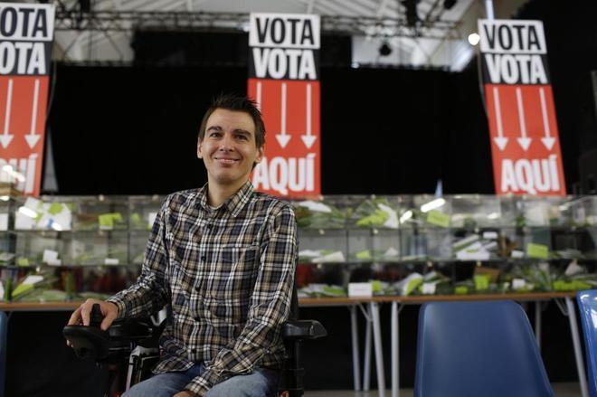 El delegado de Participación Ciudadana y Transparencia del Ayuntamiento de Madrid, Pablo Soto.